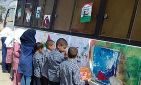 کتابخانهی سیار روستایی کانون پرورش فکری مهریز در تابستان ۹۸