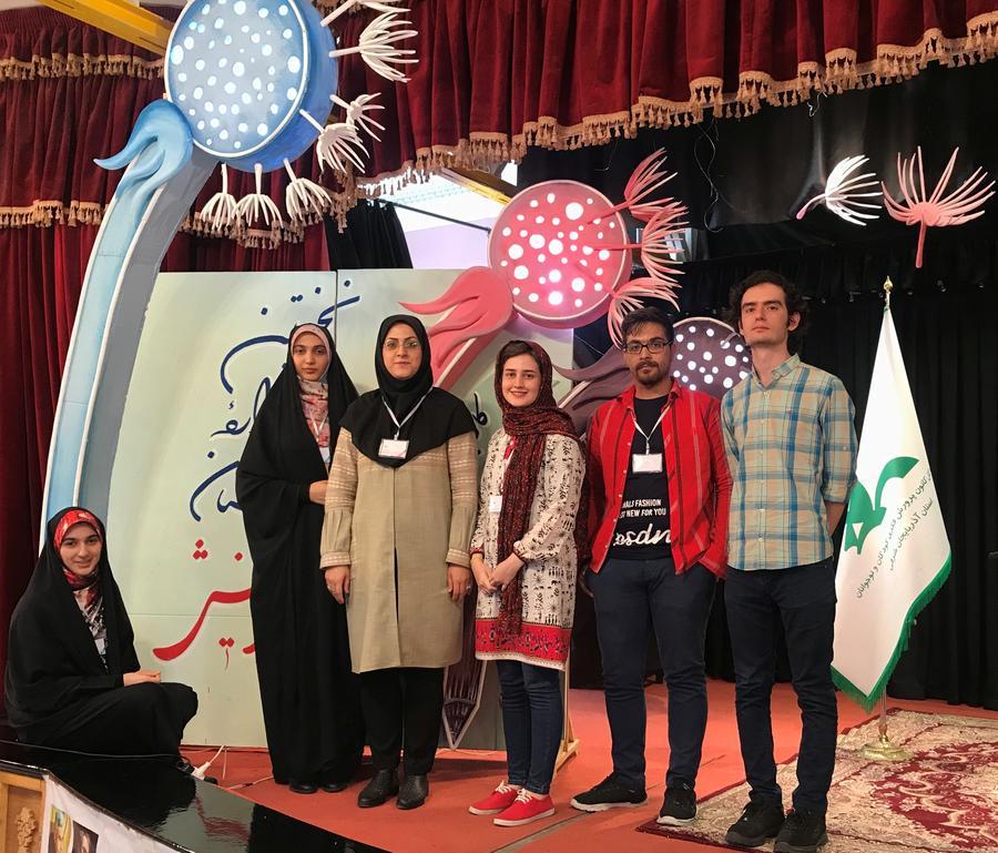حضور پنج عضو کانون استان قزوین درنخستین مهرواره سراسری «داستان» آفرینش کانون