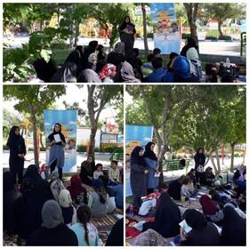 همراهی مادران و کودکان در پویش فصل گرم کتاب رزن