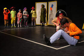 "Performing ""Long Neck Kookoo"" at Kanoon Theater Center"