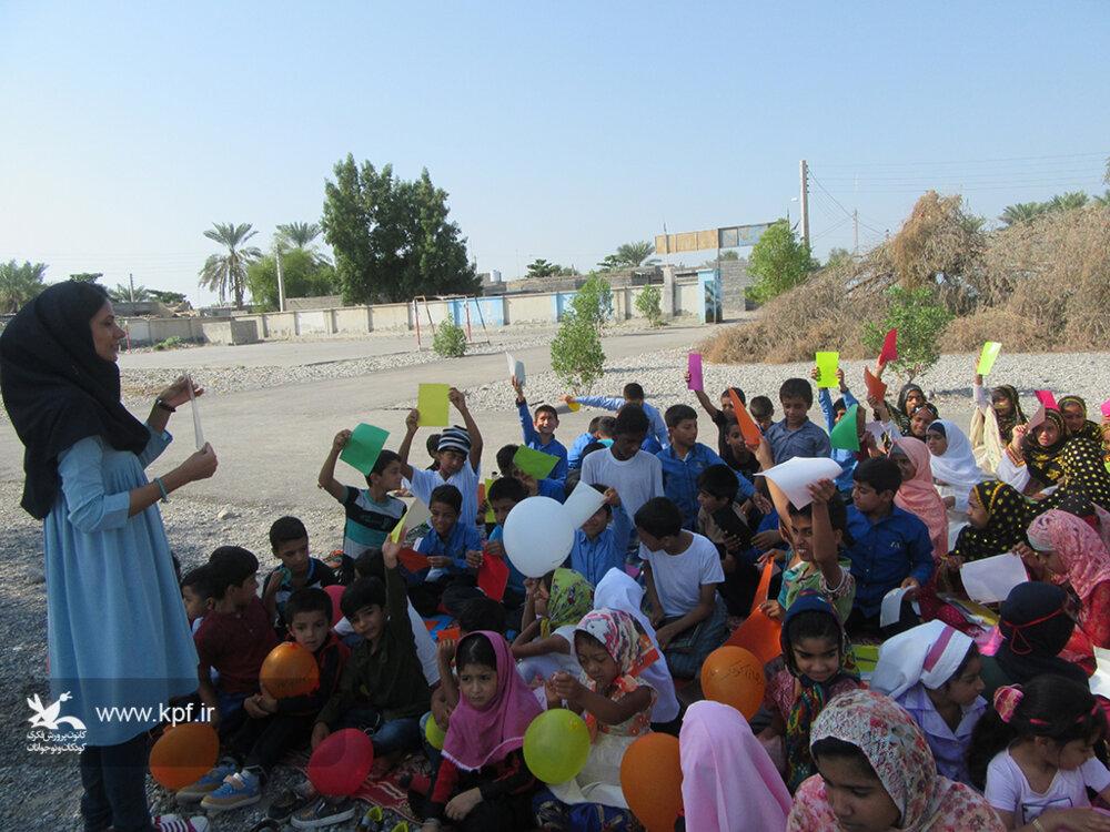دانشآموزان مدارس روستایی میزبان مربیان کانون  میناب