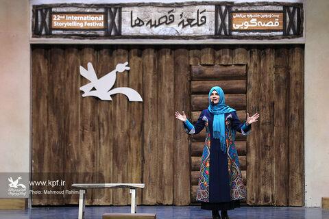 قصهگویی گیتی خامنه در  بیستودومین جشنواره بینالمللی قصهگویی