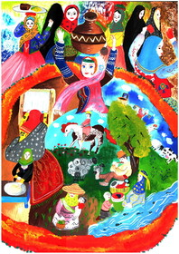 دو نشان و ۵ دیپلم افتخار سهم کودکان هنرمند فارسی از مسابقهی نقاشی تاشکند