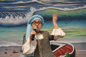 مراسم یلدا در حاشیه شهر مشهد