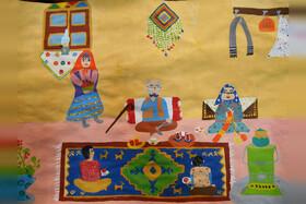 دو دیپلم افتخار سهم کودکان هنرمند همدانی از مسابقه نقاشی تاشکند