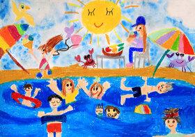 دیپلم افتخار ۲ عضو کانون هرمزگان از مسابقه نقاشی تاشکند