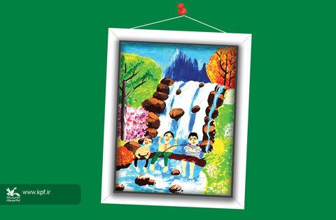 امیرحسین تیمورزاده-12 ساله-خراسان شمالی برگزیده مسابقه نقاشی تاشکند ازبکستان
