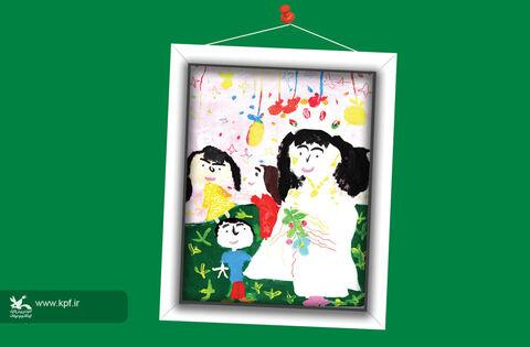 ریحانه طیبی 6 ساله از هرمزگان برگزیده مسابقه نقاشی تاشکند ازبکستان