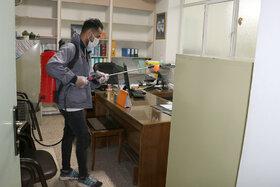ضدّ عفونیکردن ساختمان ادارهکل و مراکز کانون استان سمنان