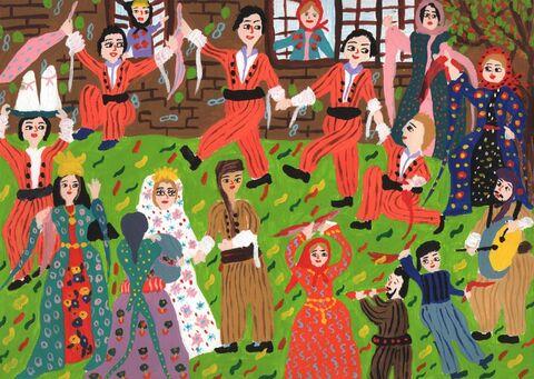 ساحل امینی برگزیده مسابقه بینالمللی نقاشی نوازاگورا کشور بلغارستان