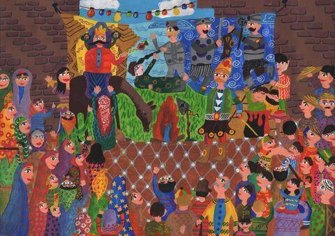 معصومه علیزاده برگزیده مسابقه بینالمللی نقاشی نوازاگورا کشور بلغارستان