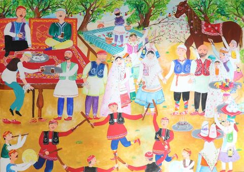مائده تقیزاده برگزیده مسابقه بینالمللی نقاشی نوازاگورا کشور بلغارستان