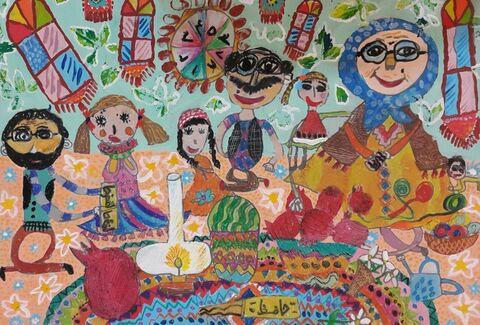 نهال دیدهبان برگزیده مسابقه بینالمللی نقاشی نوازاگورا کشور بلغارستان