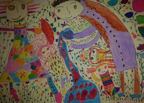 پریناز گودرزی 5 ساله از کرمانشاه برگزیده مسابقه نقاشی بلاروس