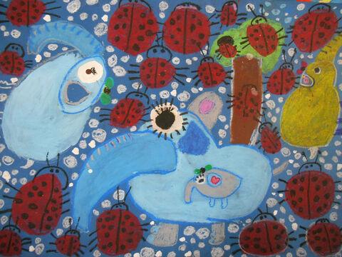 پریا انتظام 7 ساله از همدان برگزیده مسابقه نقاشی بلاروس