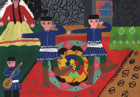 تارا ابراهیمی 12 ساله از مجتمع شهید فرخی ارومیه برگزیده مسابقه نقاشی بلاروس