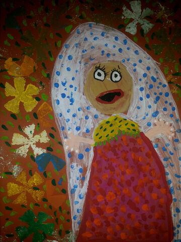 کانیا ظهرابی 5 ساله از روانسر کرمانشاه برگزیده مسابقه نقاشی بلاروس