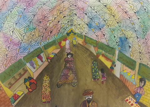 گلاره عربگری 15 ساله از مرکز 25 تهران برگزیده مسابقه نقاشی بلاروس