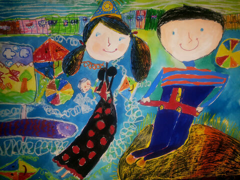 محیا شریفی 7 ساله از مرکز 1 کرمانشاه برگزیده مسابقه نقاشی بلاروس