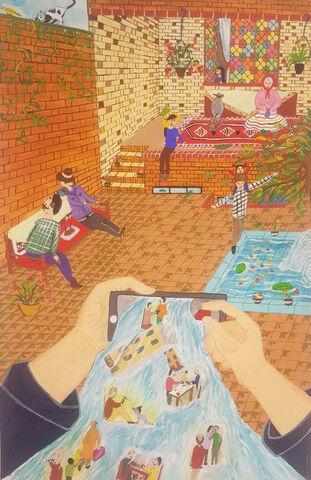 مهدی جعفریفراهانی15ساله از مرکز 25 تهران برگزیده مسابقه نقاشی بلاروس