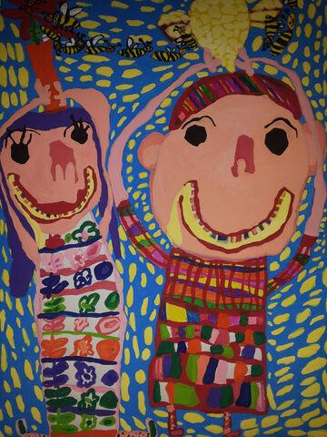 مهرسا رضایی 5 ساله از مرکز 12کرمانشاه برگزیده مسابقه نقاشی بلاروس