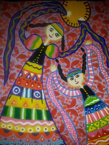یاسمن صدریان 12 ساله از سنقر کرمانشاه برگزیده مسابقه نقاشی بلاروس