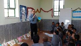 تغذیه فرهنگی کودکان روستاهای محروم توسط کتابخانه سیار روستایی گچساران