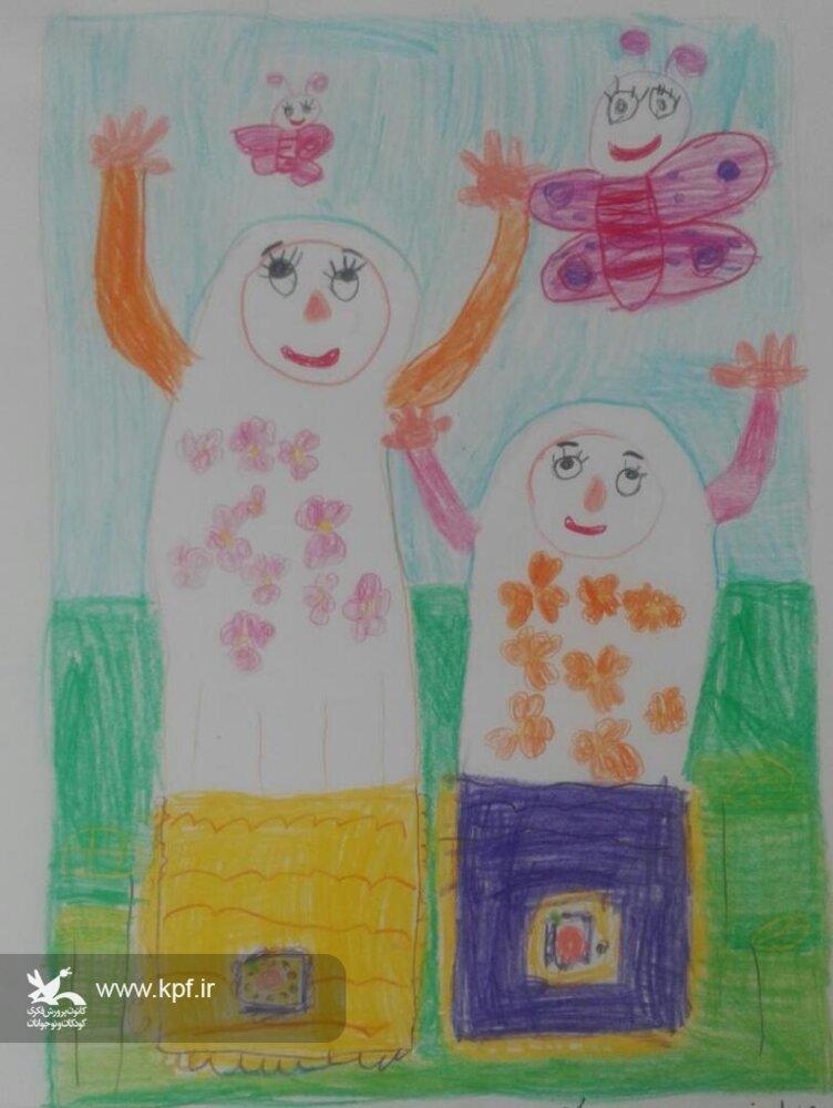 موفقیت عضو کودک مرکز آباده در مسابقه نقاشی