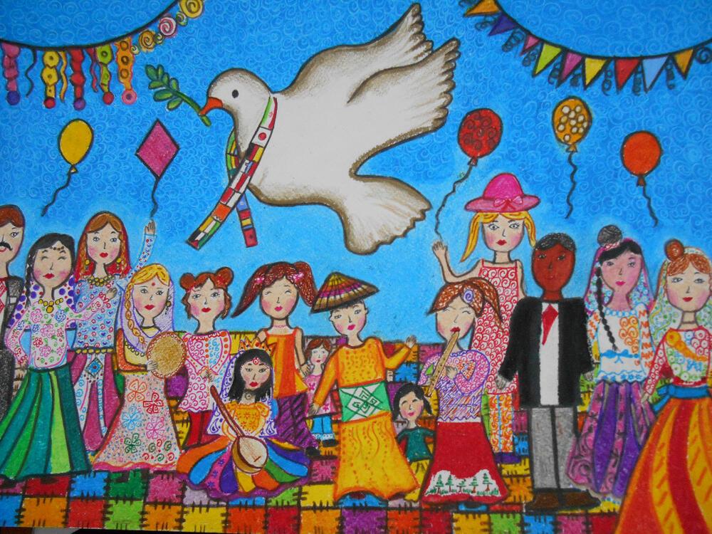 درخشش اعضای کانون پرورش فکری در جشنواره نقاشی صلح و دوستی