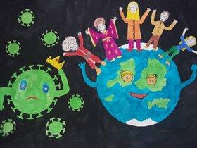 حضور پررنگ اعضای کانون پرورش فکری گلستان در مسابقه ملی نقاشی کودک «کرونا را شکست میدهیم»