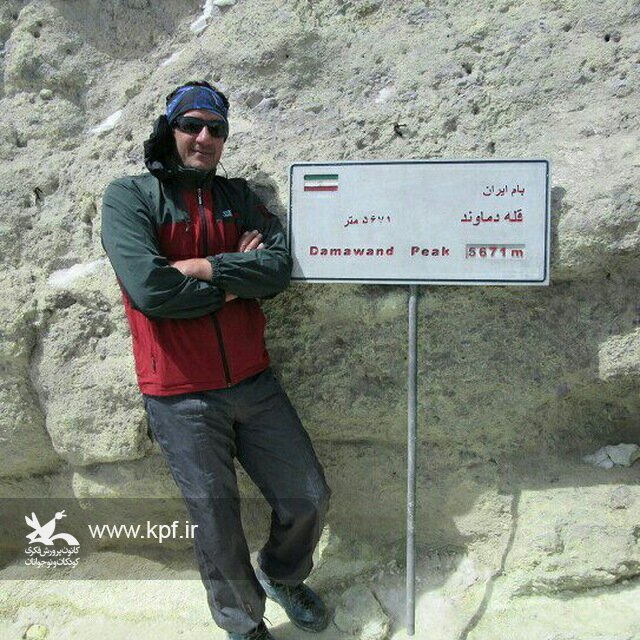 مربی کانون استان کرمانشاه، قله دماوند را فتح کرد