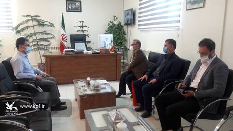 دیدار علی بینش مدیر کل کانون با تقویمی فرماندارشهرستان ملکان