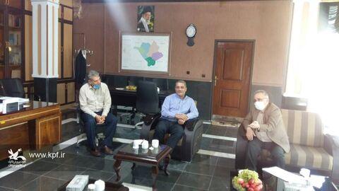 دیدار علی بینش مدیر کل کانون با اصغرپور فرماندارشهرستان عجب شیر