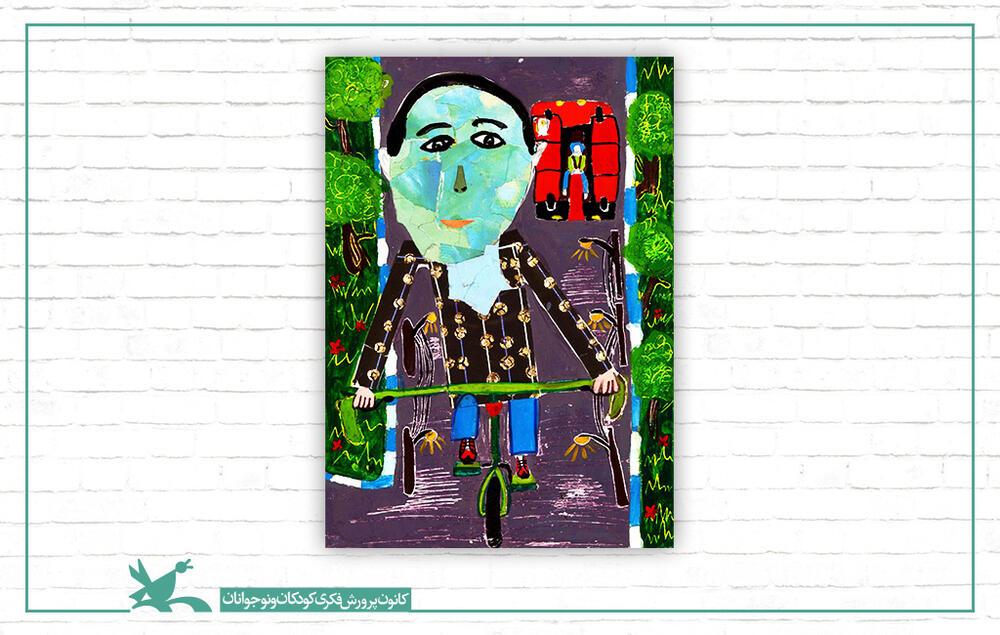 نقاشی عضو کانون، برگزیده نمایشگاه بینالمللی بلوتنبرگ آلمان