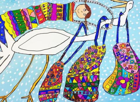 «فربد جعفری» 10 ساله عضو کانون کرمانشاه برنده جایزه سوم مسابقه نقاشی کودکان آسیایی چین