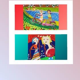 جایزه اول و دوم مسابقه نقاشی چین به کودکان آذربایجانغربی رسید