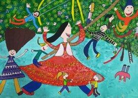 دختر کرمانی رتبه سوم مسابقه نقاشی کودکان آسیایی را کسب کرد