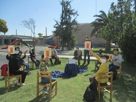 حافظخوانی اعضای پسر کانون پرورش فکری گمیشان در روز بزرگداشت حافظ