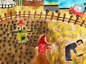 آثار ارسالی کودکان ونوجوانان کانون خراسان جنوبی به شانزدهمین مسابقه بین المللی هنر و گرافیک