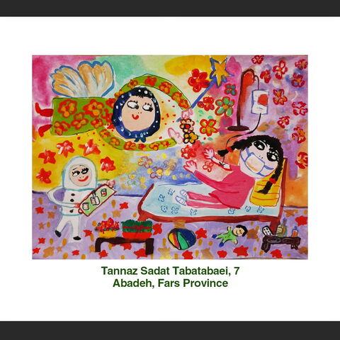 Tannaz Sadat Tabatabaei, 7, Abadeh, Fars Province