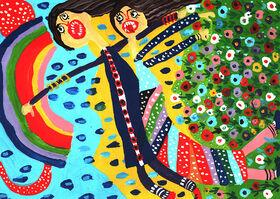 درخشش اعضای کانون آذربایجان غربی در مسابقه نقاشی «بازیهای بومیمحلی»
