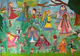 اعضای کانون لرستان در مسابقه نقاشی « بازیهای بومیمحلی» درخشیدند