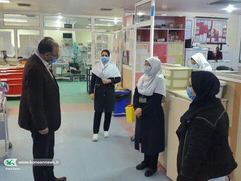 دیدار مدیر کل کانون با پرستاران بخش کودک بیمارستان امام حسین(ع) زنجان
