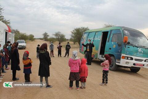 سفر کتابخانه سیار کانون خوزستان به مناطق عشایری کُتُک