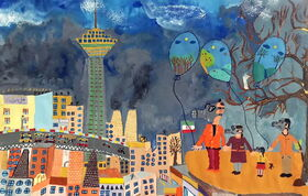 Iranian Children Success at Kao International Environment Painting Contest for Children, Japan