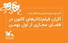 اکران فیلمتئاترهای کانون در فضای مجازی از اول بهمن