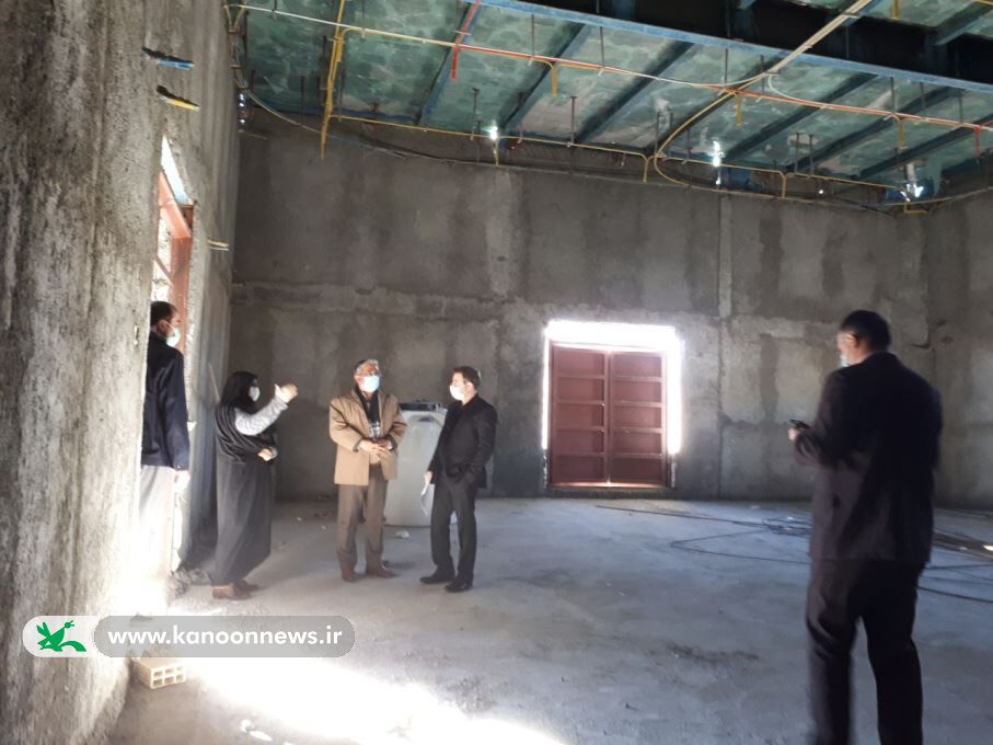 بازدید فرماندار بیرجند از ساختمان در حال احداث مرکز فرهنگی و هنری شماره ۴ کانون