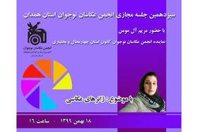 برگزاری سیزدهمین جلسه مجازی انجمن عکاسان جوان استان همدان
