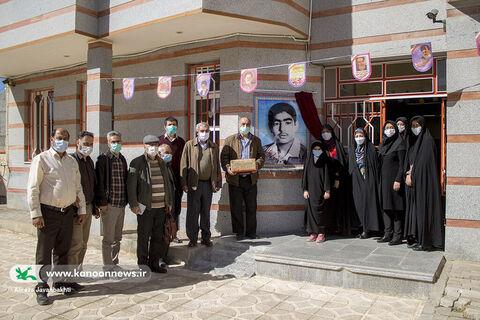 از تمثال عضو نوجوان شهید عباس اسکندری رونمایی شد