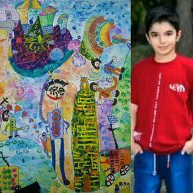 نشان رز چهل و هشتمین نمایشگاه بینالمللی هنرهای زیبای «لیدیسه» به کودک خوزستانی رسید